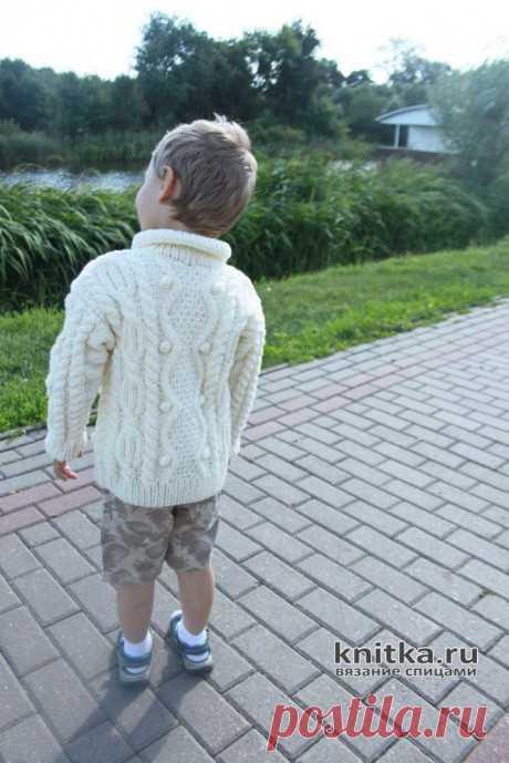 Красивый вязанный жакет для мальчика спицами. Описание и видео-урок, Вязание для детей