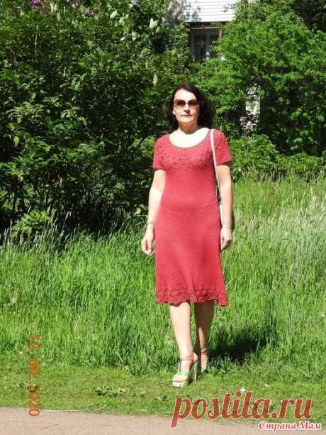 Платье Лотос по описанию Алены Малевич Добрый день, дорогие жительницы славной Страны Мам!  Сегодня хочу Вам показать еще одно летнее изделие.