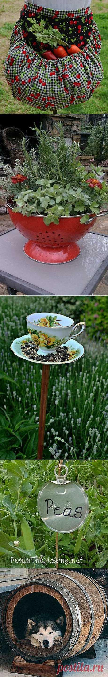 полезные и приятные мелочи в саду   СДЕЛАЙ САМ!