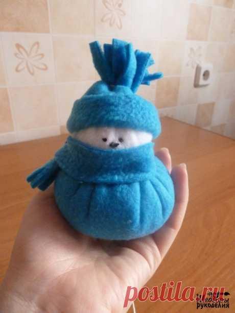 Снеговичок из флиса