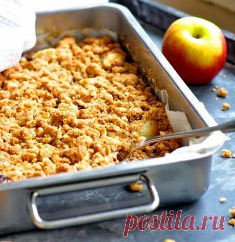 Яблочный пирог с овсяной крошкой из книги Шулы.