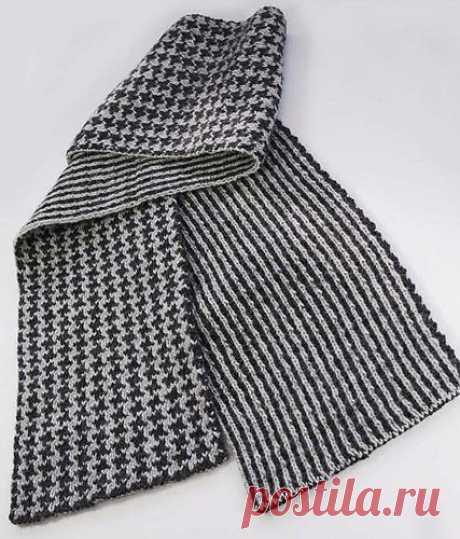 Вяжем симпатичный мужской шарф