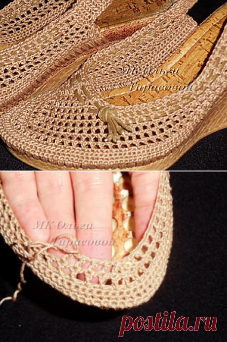 Реставрация обуви, вязаные босоножки - Ярмарка Мастеров - ручная работа, handmade