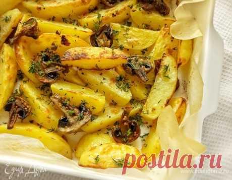 Картофель, запеченный с грибами в горчичном соусе, пошаговый рецепт, фото, ингредиенты - @portnova_yulia