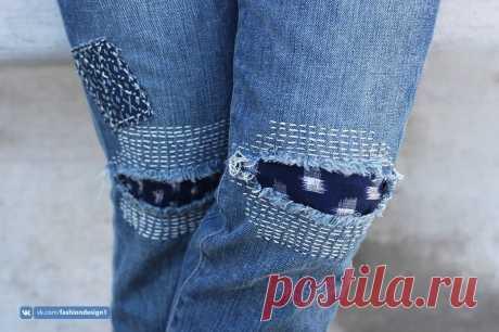 Заплатки на джинсы — Сделай сам, идеи для творчества - DIY Ideas