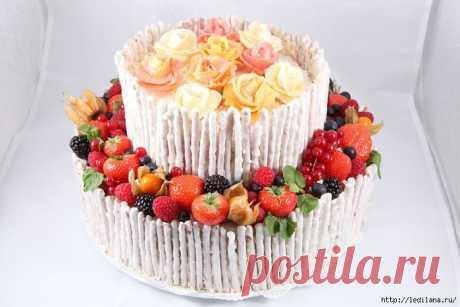 Рецепт фруктового торта Наслаждение.