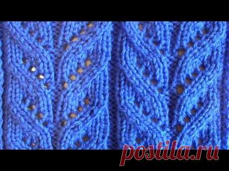 The openwork pattern imitating braids with the text description. Openwork braids can also be used for inserts on forward shelves, for registration of levels of a cardigan...