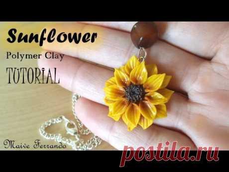Polymer Clay Sunflower Pendant Tutorial || Maive Ferrando
