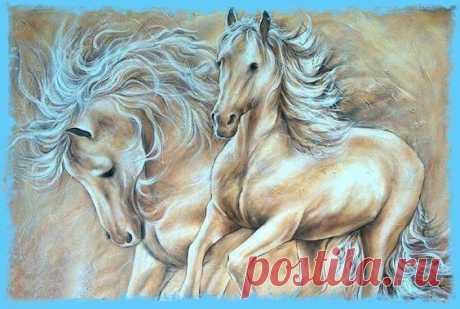 Схема вышивки «лошади» - Вышивка крестом