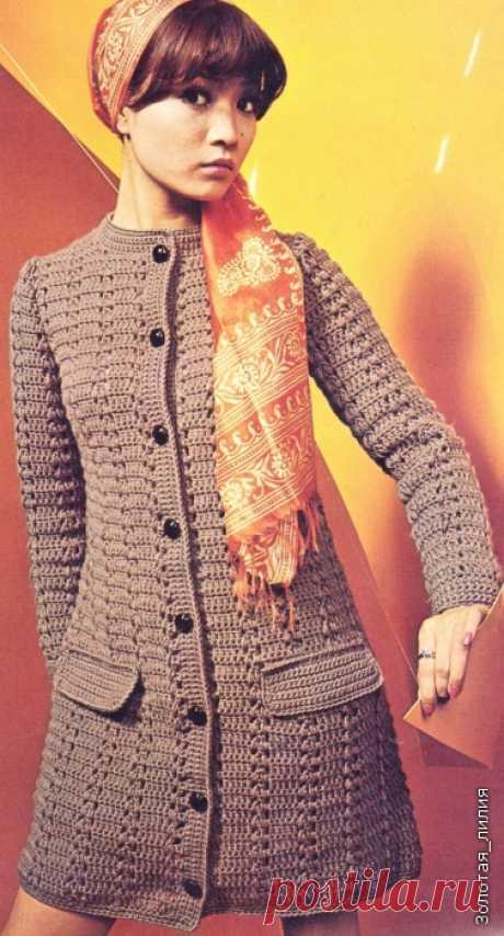 Пальто, шазюбли, жакеты крючком. Подборка 2
