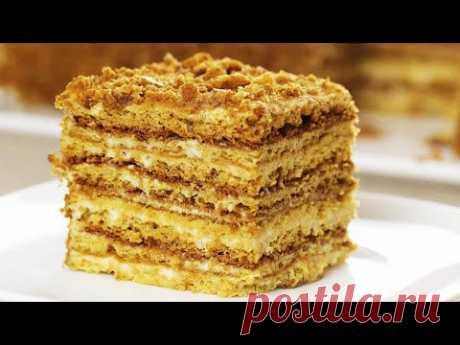 Торт за 30 минут!  МЕДОВЫЙ ПУХ или Ленивый Медовик! Без раскатки коржей. Самый ПРОСТОЙ рецепт! Cake