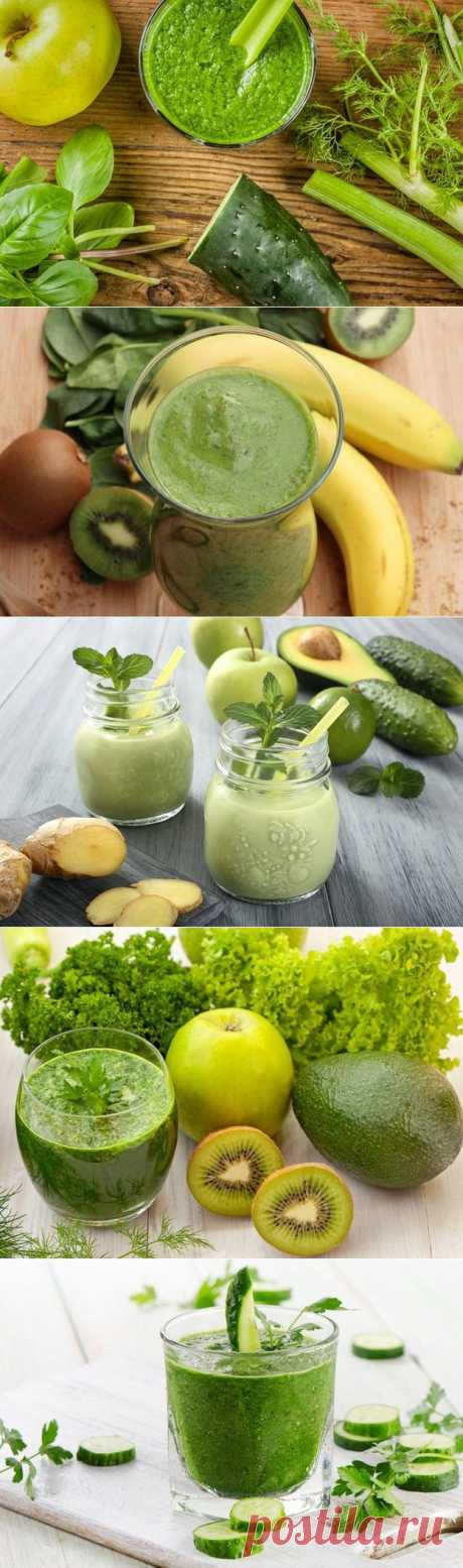 Детокс: 10 зеленых смузи для очищения организма / Будьте здоровы