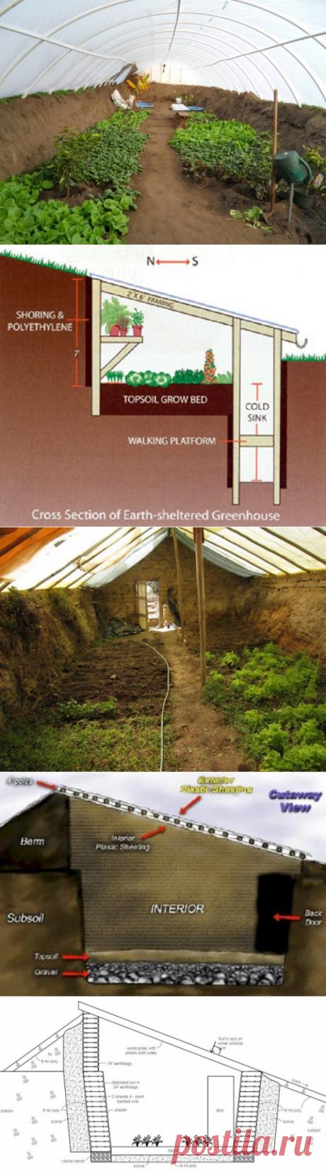 35 подземных теплиц для круглогодичного выращивания — Чудеса в решете
