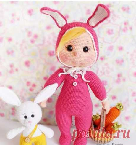 Куколка Венди в костюме Зайки 🐰 Tiny Mini Design Перевела группа Crochet&Knitting