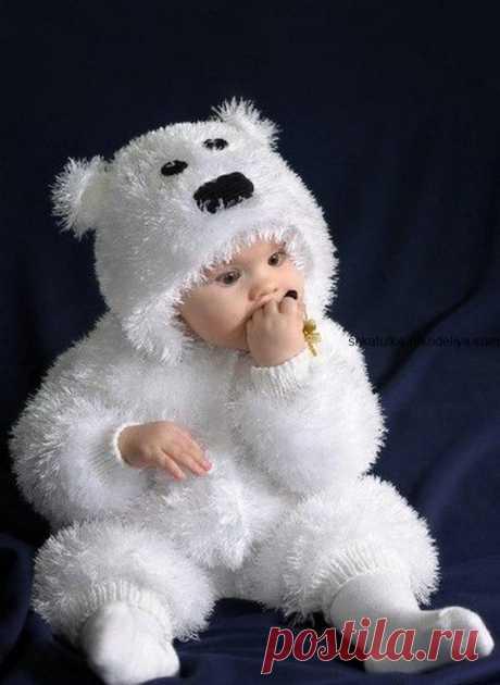 """Детский костюм """"Мишка"""" Детский костюм Мишка спицами. Новогодний костюм для малышей мишка спицами"""
