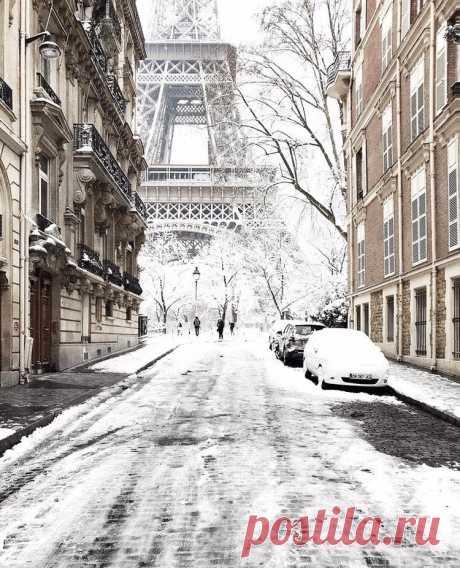 Париж зимoй