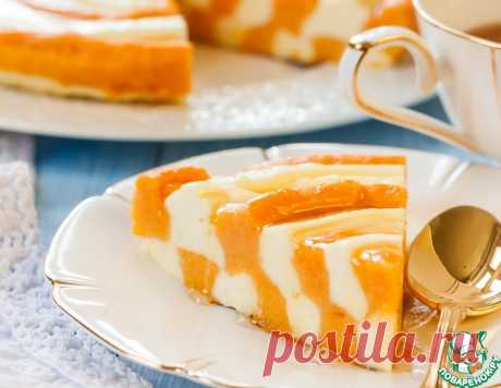 """Pumpkin and cottage cheese """"Зебра&quot pie;"""