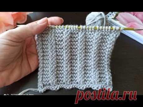 Рельефный узор спицами для вязания кардигана, джемпера, шарфа, шапки.