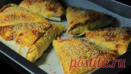 Закуска из лаваша - конвертики с начинкой (самса на скорую руку) – пошаговый рецепт с фотографиями
