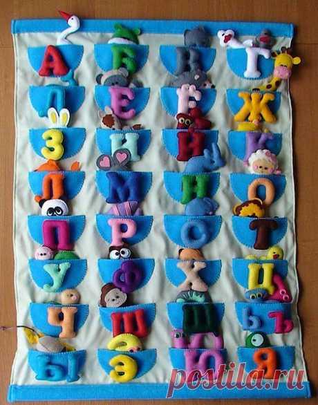 Алфавит из фетра / Handmade / Развивайки из фетра и ткани