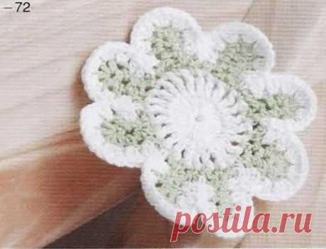Милый вязаный цветочек из категории Интересные идеи – Вязаные идеи, идеи для вязания