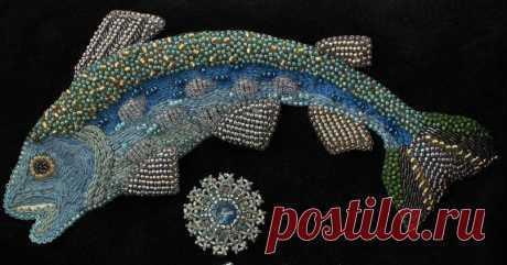 Муфта Рыбка   biser.info - всё о бисере и бисерном творчестве