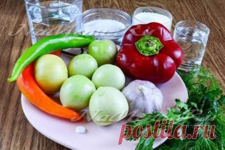 Зеленые помидоры по-армянски на зиму, самый вкусный рецепт