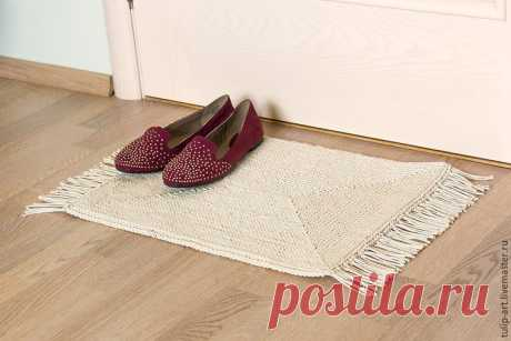 Вяжем по канве уютный коврик (Вязание крючком) | Журнал Вдохновение Рукодельницы