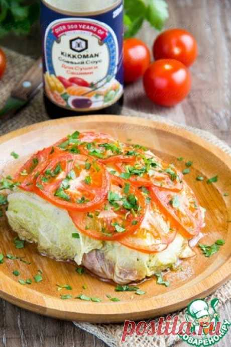 Рыба, запеченная в листьях пекинской капусты - кулинарный рецепт