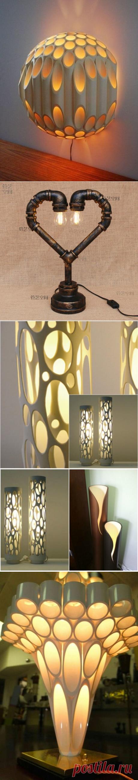 Необычные идеи: светильники из труб