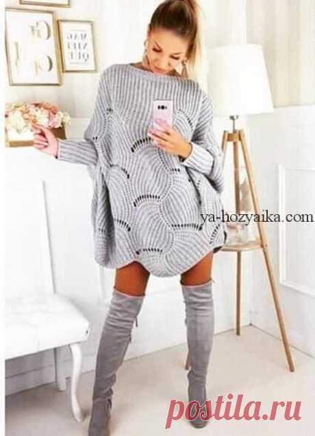 Платье оверсайз спицами с описанием. Модное платье спицами осень 2021 Платье оверсайз спицами с описанием. Платье оверсайз спицами схемы