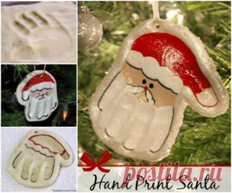 Соленое тесто рецепт поделки Санта-рука орнамент | в WHOot