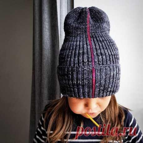 Интересная шапочка тыковка спицами, Вязание для детей