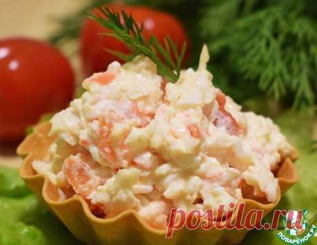 Закуска из помидоров и крабовых палочек – кулинарный рецепт