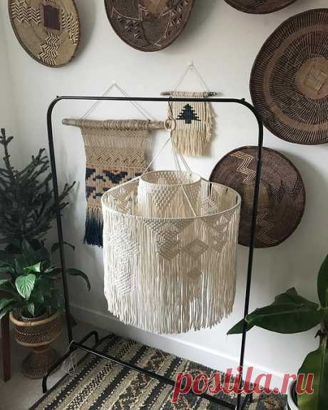 От занавесок до мебели: 13 вариантов макраме-декора