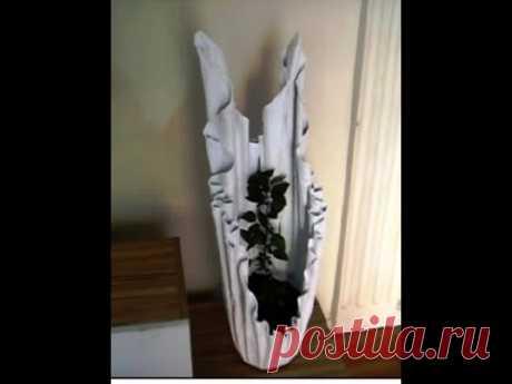 Kumaşla Beton Saksı Yapımı &  İlginç Bir Çalışma - YouTube