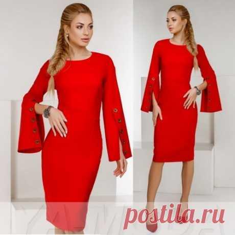 Облегающее платье с разрезанными рукавами