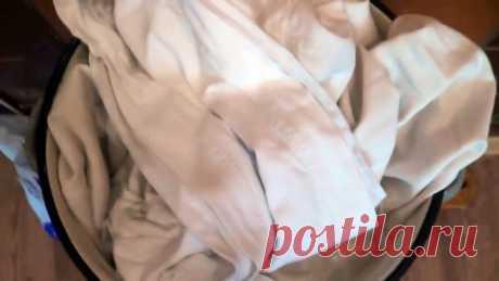 Старинный способ удаления любых пятен с белого белья