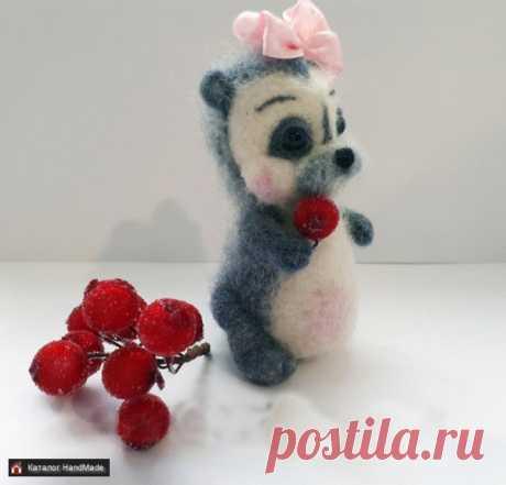 Игрушка Ежиха из шерсти 100 % ручной работы купить в Беларуси HandMade