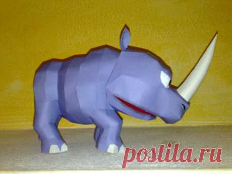 Rambi the Rhino papercraft Rambi the Rhino from Donkey kong country games. Designed and built by me. This is the download