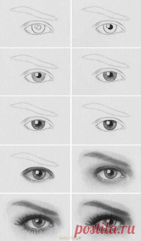 Учимся рисовать глаза Учимся рисовать глазаУчимся рисовать глаза разными способами, чтобы потом с их помощью создавать разные лица и разную мимику.