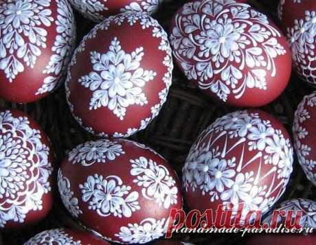 Как расписать яйца воском (мастер-класс и шаблоны росписи)