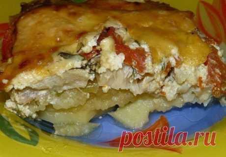 Обалденная картофельная запеканка с рыбой