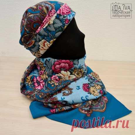 """Шьем потрясающий комплект: шапка, палантин, рукавички и сумочка в модном """"русском стиле"""". Подробнейший мастер-класс"""