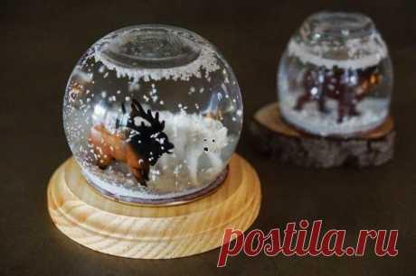 Волшебный шар со снегом своими руками Практически каждый может похвастаться тем, что в детстве у него было сокровище в виде стеклянного шара. Медленно падающий на дно снег, казался каким-то волшебным и заставлял долгое время не сводить с ...