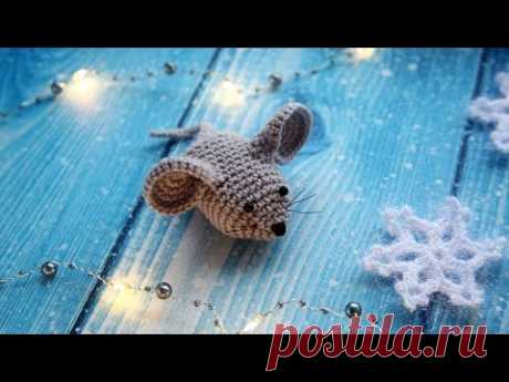 Мышка крючком (crochet mouse), мастер-класс для начинающих, схема