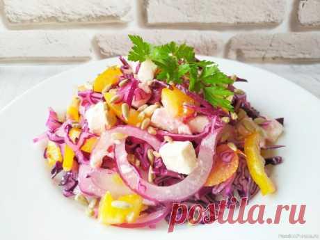 Новый салат из капусты, у этого салата нет конкурентов, очень вкусный! У этого салата просто нет конкурентов, вкусный, сочный, простой по составу, а еще и полезный. Рецепт этого салата нашла в одном из кулинарных журналов и сначала обратила внимание на его яркость, но когда приготовила осталась очень довольна вкусом. Готовить такой салат можно круглый год,...