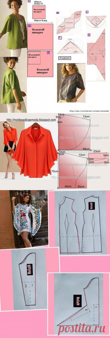 Моделирование платья или блузки с оригинальным рукавом — Сделай сам, идеи для творчества - DIY Ideas
