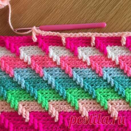 Многоцветные узоры крючком. | Блог про вязание | Яндекс Дзен