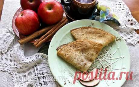Блины с яблоками и корицей рецепт с фото – пошаговое приготовление блинчиков с яблоком и корицей